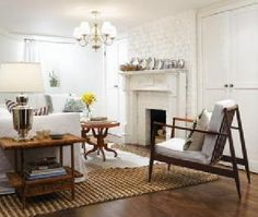painted brick with mantel