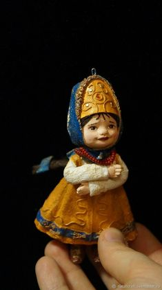 Купить Ватная игрушка - Василиса премудрая - Папье-маше, Новый Год, елка, ретро IS THAT A GOURD TOPPER?
