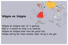Wippie en Snippie - Kinderrympies in Afrikaans Preschool Songs, Kids Songs, Alfresco Designs, Classroom Layout, Afrikaans, Child Development, School Projects, Classroom Management, Kids And Parenting