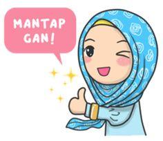 Flower Hijab : Daily Talk by Imran Ramadhan sticker Ied Mubarak, Hijab Drawing, Islamic Cartoon, Hijab Cartoon, Current Mood Meme, Islamic Girl, Girl Korea, Learn Korean, New Sticker