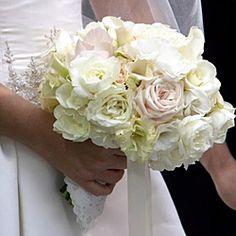 WeddingChannel Galleries: Pink and Cream Rose Bouquet