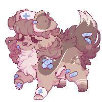 Amai by OnlySomeoneRandom Cute Dog Drawing, Cute Wolf Drawings, Cute Animal Drawings Kawaii, Furry Drawing, Kawaii Art, Cute Fantasy Creatures, Mythical Creatures Art, Cute Art Styles, Cartoon Art Styles