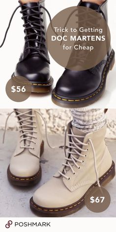 Need cute chunky boots for fall? Browse hundreds of designer brands like Doc Marten's for up to 70% off on Poshmark! Tap to download free and shop the selection.