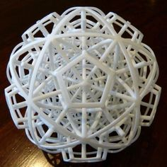 Dual Half 120- and 600-Cells - 3D printed sculpture by mathematician and artist Henry Segerman #3dPrintedShapes Maybe something for 3D Printer Chat?