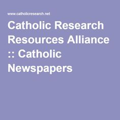 Catholic Research Resources Alliance :: Catholic Newspapers