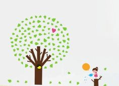 Bigbvg Easy Instant Home Decor Wall Sticker Decal - Girl and Tree by simde, http://www.amazon.com/dp/B008H3IJ5K/ref=cm_sw_r_pi_dp_XGebqb1S5XAFY