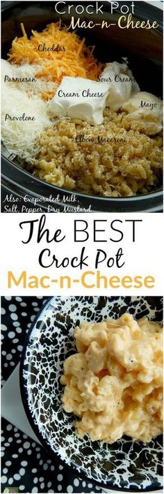 The BEST Crock Pot Mac-n-Cheese around! Creamy, smooth, cheesy…a definite crowd pleaser. The BEST Crock Pot Mac-n-Cheese around! Creamy, smooth, cheesy…a definite crowd pleaser. Crock Pot Food, Crockpot Dishes, Crock Pots, Dinner Crockpot, Crock Pot Pasta, Crock Pot Dump Meals, Easy Crockpot Mac And Cheese Recipe, Best Crockpot Meals, Sloppy Joe Recipe Crock Pot
