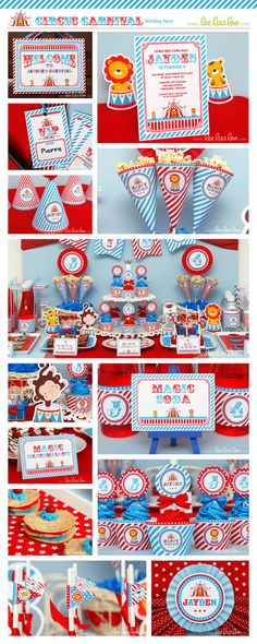 Circus Birthday Party Invitation Personalized by LeeLaaLoo on Etsy, $12.00