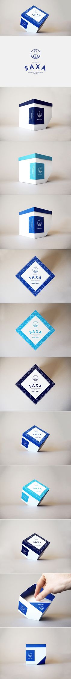 Concept: Saxa Rebrand — The Dieline | Packaging & Branding Design & Innovation News