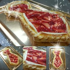 Hojaldre de fresas. Strawberry pastry