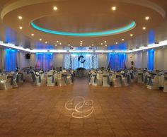 #wedding #blue #decoration #kerekerdo #lights