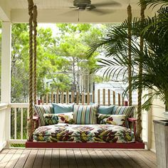 What would a weatherboard home be without a porch swing? This one would look lovely on the verandah of a big Queenslander.