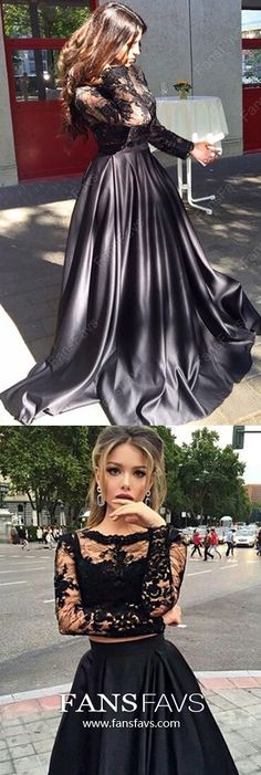 Black Prom Dresses Long Sleeve, Long Formal Evening Dresses Two Piece, Tulle Military Ball Dresses A Line, Beautiful Pageant Dresses Lace 8th Grade Formal Dresses, Vintage Formal Dresses, Winter Formal Dresses, Affordable Prom Dresses, Formal Dresses For Teens, Prom Dresses Long With Sleeves, Cheap Prom Dresses, Formal Evening Dresses, Nice Dresses