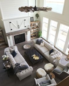 Cool 53 Rustic Farmhouse Living Room Design Decor Ideas. More at https://trendecorist.com/2018/02/14/53-rustic-farmhouse-living-room-design-decor-ideas/