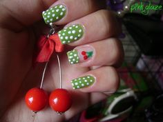 Find images and videos about nails, nail art and cherry on We Heart It - the app to get lost in what you love. Cute Nails, Pretty Nails, My Nails, Polish Nails, Cherry Nail Art, Cherries Jubilee, Nail Polish Designs, Fingernail Designs, Make Up Collection