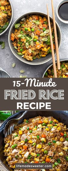 Fried rice is the perfect dish for any time of day. You can make it as a main course or side, and there are endless combinations that will always be delicious. It's important to have a lot of vegetables and protein for maximum flavor and texture. You can also add any other favorite ingredients to make it your own. Perfect Fry, One Pot Dinners, Breakfast Snacks, Fried Rice, Meal Prep, Slow Cooker, Curry, Paleo, Low Carb