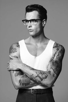 47 Inked Bad Boy Editorials - From Modern Tribal Tattoos to Zombified French Fashion (TOPLIST)