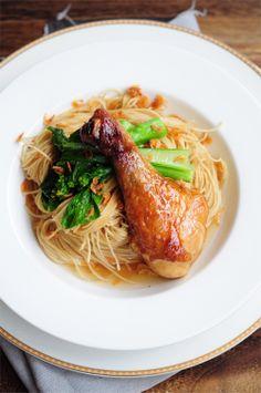Chicken @ shrimp noodles