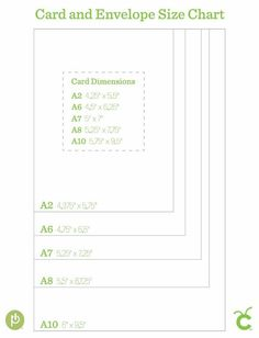 Card and Envelope Size Chart - bjl