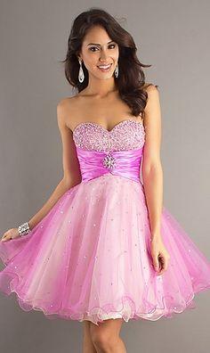 vestido-15-años-rosa-corto
