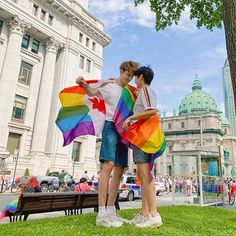 Happy pride 🌈 Nothing feels better than being double wrapped with a beautiful flag and someone I love, and feeling proud of being myself… Lgbt Couples, Cute Gay Couples, Couple Posing, Couple Photos, Episode Backgrounds, Gay Aesthetic, Cute Memes, Poses, Gay Pride