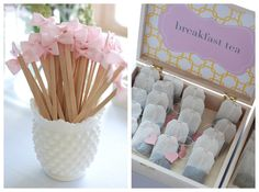 Love these bow stir sticks!!!  Great ideas for a mother daughter tea party.