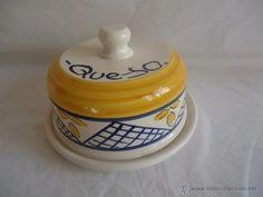 fuente tapadera para queso quesera de ceramica - Comprar en todocoleccion - 40875342