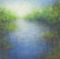 View from the Bridge, a one-of-a-kind oil painting by Victoria Veedell