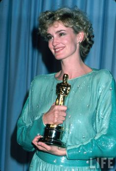 "2/04/2014 10:03pm The Academy Awards Ceremony 1983:: Best Supporting Actress Oscar Jessica Lange for ""Tootsie"" 1982."