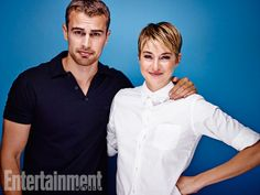 Theo James and Shailene Woodley, Insurgent. See more stunning star portraits from our photo studio at San Diego Comic-Con 2014 here: http://www.ew.com/ew/gallery/0,,20399642_20837151,00.html