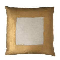 Painted Border Pillow in Gold from Nest Interiors