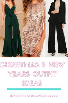 We all look forward to the trendy party and dinner outfits for the holidays. Style Me, Cool Style, Fashion Group, Fashion Tips, New Years Outfit, Dinner Outfits, Slit Dress, New Years Party, Christmas And New Year