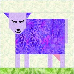 QDNW Patch Cow block pattern