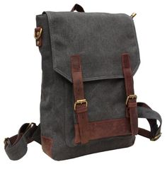 Canvas Genuine Leather BagPack