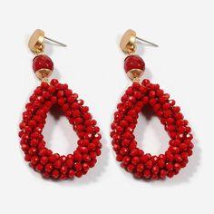 Bohemian Earrings Women Crystal Stone Beads Handmade Zinc Alloy Big Long Earrings Vintage Jewelry Co Red Earrings, Moon Earrings, Vintage Earrings, Crystal Earrings, Women's Earrings, Vintage Jewelry, Hanging Earrings, Cross Earrings, Pendant Earrings