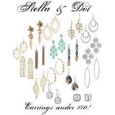 Stella & Dot Earrings under $40 www.stelladot.com/ericagearin