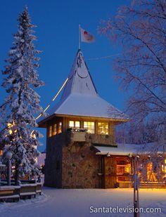 O Posto de Correio de Papai Noel em Rovaniemi na Lapônia na Finlândia