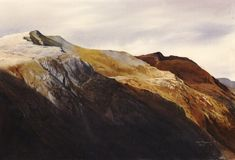 The Garn from Glyder, an original watercolour painting by Rob Piercy