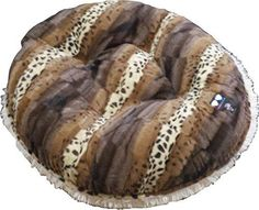 BESSIE AND BARNIE 36Inch Bagel Bed for Pets Medium BlondieWild Kingdom * Check out the image by visiting the link.(This is an Amazon affiliate link and I receive a commission for the sales)