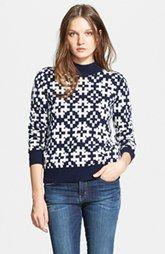 Equipment 'Tayden' Pattern Mock Neck Wool Blend Sweater