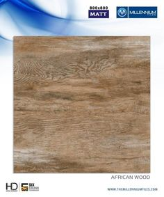 "Millennium Tiles 800x800mm (32x32) Vitrified Matt Porcelain XL Tiles Series ""African Wood"""