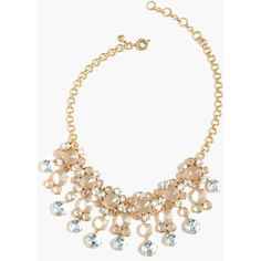 J.Crew Icy Crystal Drop Necklace ($170) ❤ liked on Polyvore featuring jewelry, necklaces, drop necklace, crystal jewellery, crystal stone necklace, crystal drop necklace and crystal jewelry