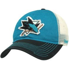 2caf7ee46a4 Reebok San Jose Sharks Slouch Adjustable Mesh Hat - Teal Black by Reebok.   19.94