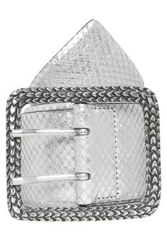 Just Cavalli. Cintura - silver. #cintura #cinture #vitaalta #zalandoIT #fashion Composizione:100% Pelle. Chiusura:Fibbia. Larghezza:6.5 cm nella taglia 90. Fantasia:Animalier