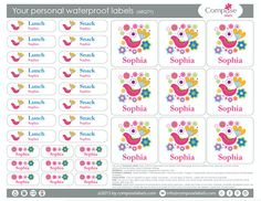 Bird colorful  Your personal waterproof labels 68 Qty Free