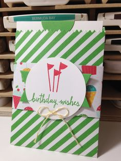 Stampin' in the Sun!: Mini Treat Bag Thinlit Birthday Card