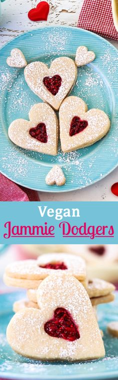 Surprise your Valentine with these heart-shaped vegan Jammie Dodgers and they'll love you forever. They are heavenly sweet, tart, buttery soft and adorable.
