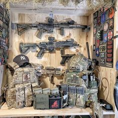 Tactical Wall, Tactical Gear, Weapons Guns, Guns And Ammo, Special Forces Gear, Weapon Storage, Gun Rooms, Airsoft Gear, Combat Gear
