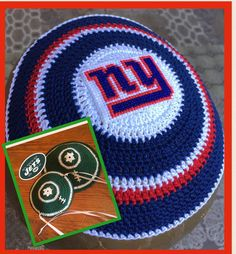 New York Jets Giants kippah Jewish football or Your by CuteKippah