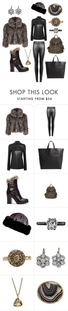"""faux fur"" by moestesoh ❤ liked on Polyvore featuring Gina Bacconi, Wolford, Joseph, Ghurka, Frye and Black"